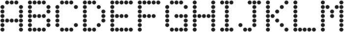 SB Liquid Dot Regular otf (400) Font UPPERCASE