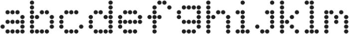 SB Liquid Dot Regular otf (400) Font LOWERCASE