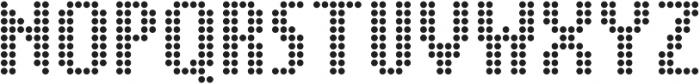 SB Message Dot Regular otf (400) Font UPPERCASE