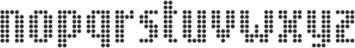 SB Message Dot Regular otf (400) Font LOWERCASE