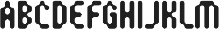 SB Modem Regular otf (400) Font UPPERCASE