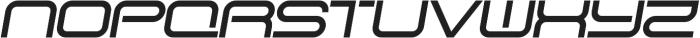 SB Vibe Extended Semibold Italic otf (600) Font UPPERCASE