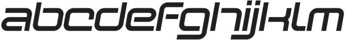 SB Vibe Extended Semibold Italic otf (600) Font LOWERCASE