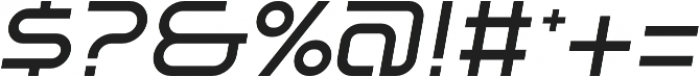 SB Vibe Extrawide Medium Italic otf (500) Font OTHER CHARS