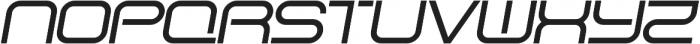 SB Vibe Extrawide Medium Italic otf (500) Font UPPERCASE