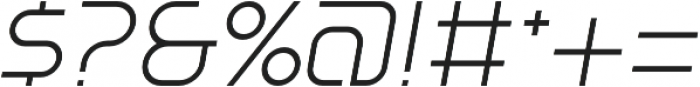 SB Vibe Medium Light Italic otf (300) Font OTHER CHARS