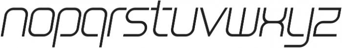 SB Vibe Medium Light Italic otf (300) Font LOWERCASE