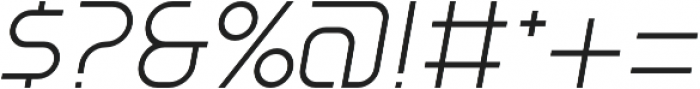 SB Vibe Semicondensed Light Italic otf (300) Font OTHER CHARS