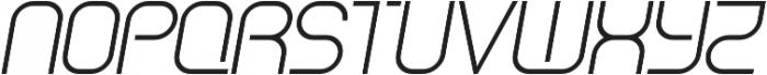 SB Vibe Semicondensed Light Italic otf (300) Font UPPERCASE