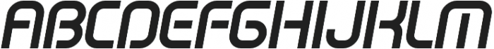 SB Vibe Semicondensed Semibold Italic otf (600) Font UPPERCASE