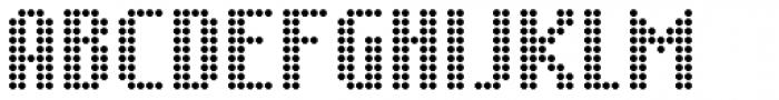 SB Message Dot Font UPPERCASE