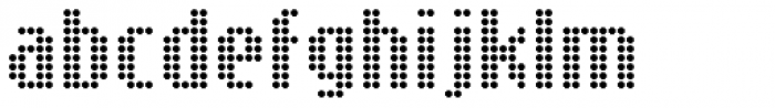 SB Message Dot Font LOWERCASE
