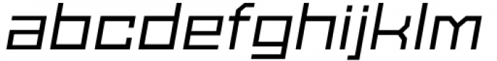 SbB Powertrain Extra Wide Medium Italic Font LOWERCASE