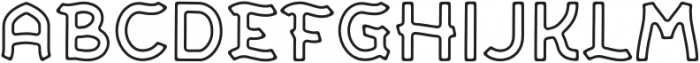 SCOUTH TYPE Outline otf (400) Font LOWERCASE
