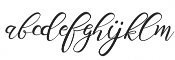 Scallion otf (400) Font LOWERCASE