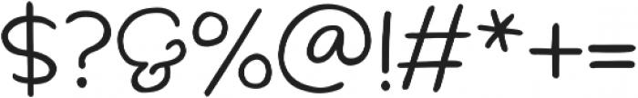 Scamper Regular otf (400) Font OTHER CHARS