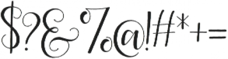 Scarlett Script Rough otf (400) Font OTHER CHARS