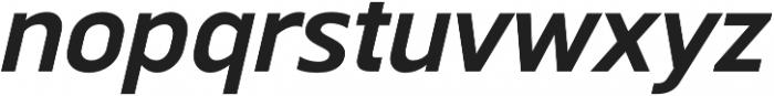 Scatio DemiBold Italic otf (600) Font LOWERCASE