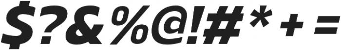 Scatio ExtraBold Italic otf (700) Font OTHER CHARS