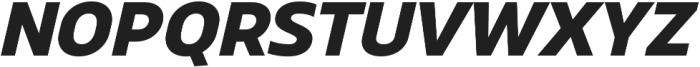 Scatio ExtraBold Italic otf (700) Font UPPERCASE
