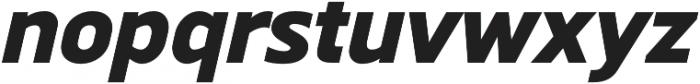 Scatio ExtraBold Italic otf (700) Font LOWERCASE