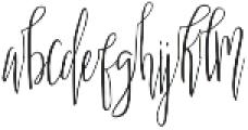Scatter Sunshine Alt Script otf (400) Font LOWERCASE