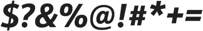 Schnebel Sans Pro Bold Italic otf (700) Font OTHER CHARS