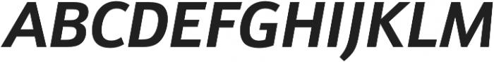 Schnebel Sans Pro Bold Italic otf (700) Font UPPERCASE