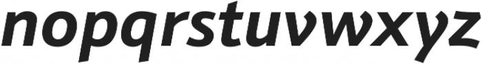 Schnebel Sans Pro Bold Italic otf (700) Font LOWERCASE