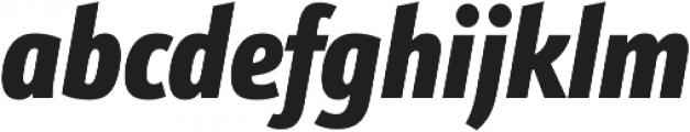 Schnebel Sans Pro Comp Black Italic otf (900) Font LOWERCASE