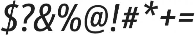 Schnebel Sans Pro Comp Italic otf (400) Font OTHER CHARS