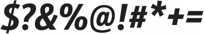 Schnebel Sans Pro Cond Bold Italic otf (700) Font OTHER CHARS