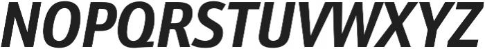 Schnebel Sans Pro Cond Bold Italic otf (700) Font UPPERCASE
