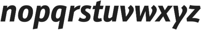 Schnebel Sans Pro Cond Bold Italic otf (700) Font LOWERCASE