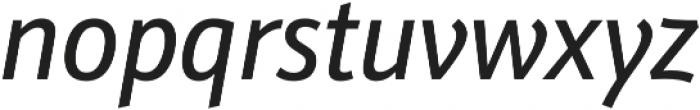 Schnebel Sans Pro Cond Italic otf (400) Font LOWERCASE