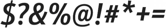 Schnebel Sans Pro Cond Medium Italic otf (500) Font OTHER CHARS