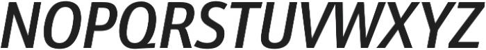 Schnebel Sans Pro Cond Medium Italic otf (500) Font UPPERCASE