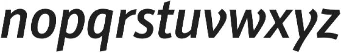 Schnebel Sans Pro Cond Medium Italic otf (500) Font LOWERCASE