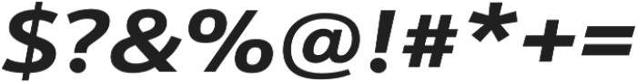Schnebel Sans Pro Expand Bold Italic otf (700) Font OTHER CHARS