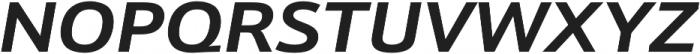 Schnebel Sans Pro Expand Bold Italic otf (700) Font UPPERCASE