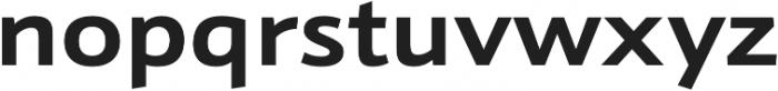 Schnebel Sans Pro Expand Bold otf (700) Font LOWERCASE