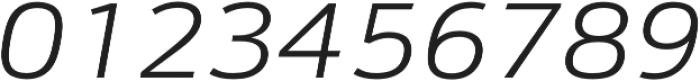 Schnebel Sans Pro Expand Light Italic otf (300) Font OTHER CHARS