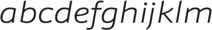 Schnebel Sans Pro Expand Light Italic otf (300) Font LOWERCASE