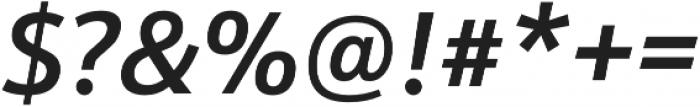 Schnebel Sans Pro Medium Italic otf (500) Font OTHER CHARS