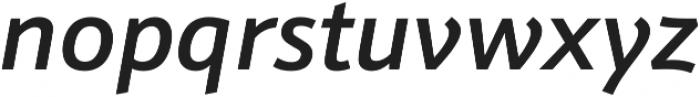 Schnebel Sans Pro Medium Italic otf (500) Font LOWERCASE