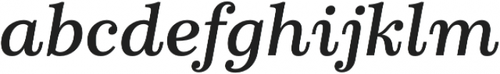 Schorel Ext Demi Italic otf (400) Font LOWERCASE