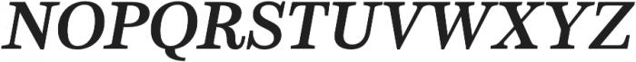 Schorel Ext ExBold Italic otf (700) Font UPPERCASE