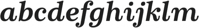 Schorel Ext ExBold Italic otf (700) Font LOWERCASE