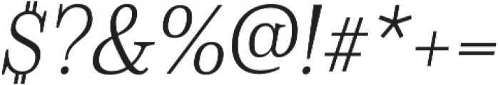 Schorel Norm Light Italic otf (300) Font OTHER CHARS