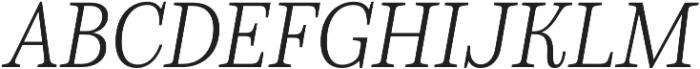 Schorel Norm Light Italic otf (300) Font UPPERCASE